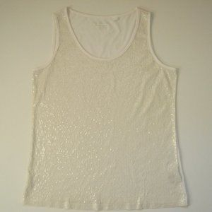 Chico's white sequin tank top